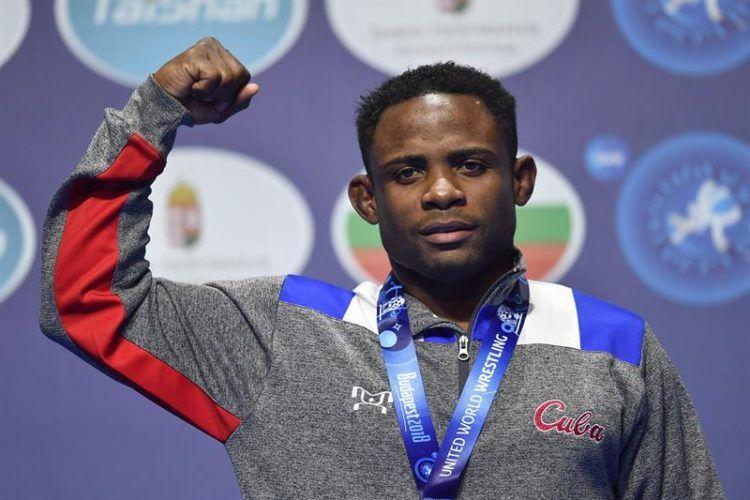 Yowlys Bonne Rodriguez, medalla de oro. Foto: EFE.