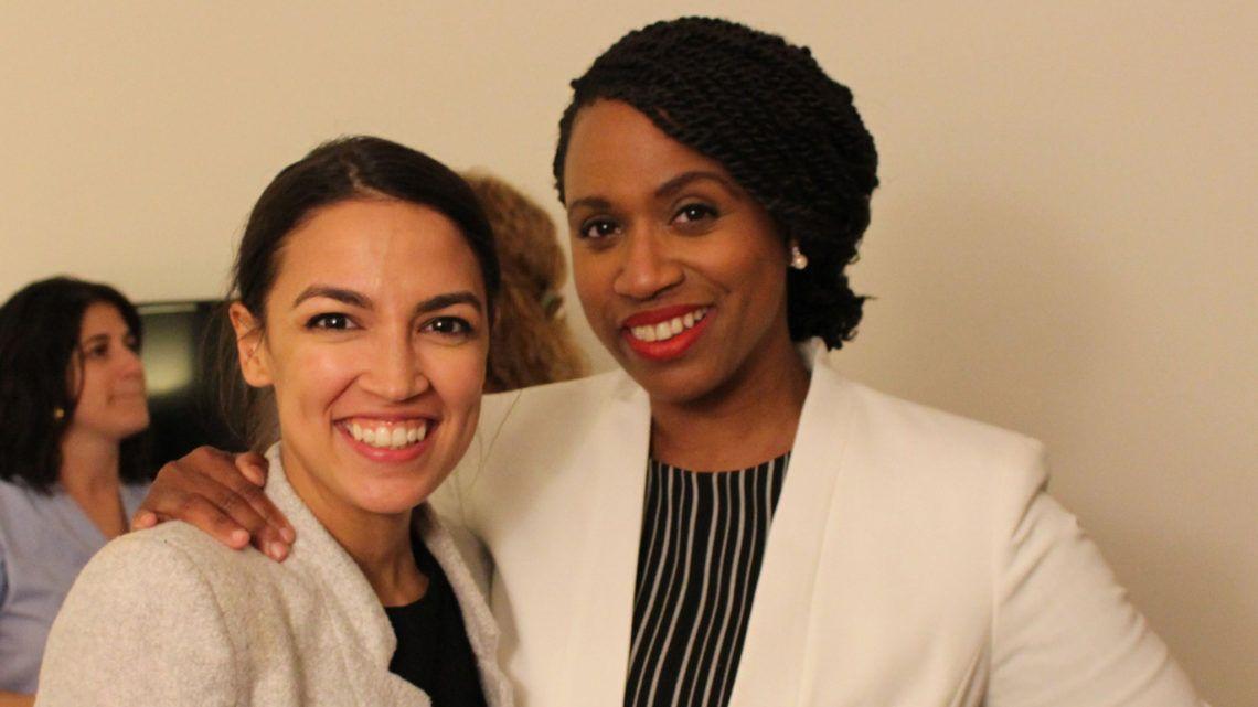 """Alexandria Ocasio Cortez (New York) y Ayanna Pressley (Masachusets), dos potentes """"primerizas""""."""