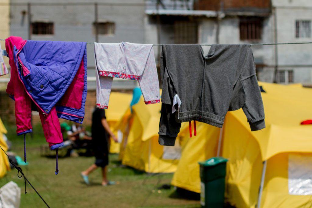 Centro para inmigrantes venezolanos en Bogotá. Más de 2 millones de personas han abandonado Venezuela los últimos años. Foto: Dahian Cifuentes.