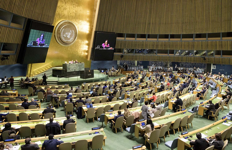 Sesión en la Asamblea General de la ONU donde se debatió la resolución cubana que pide el fin del embargo