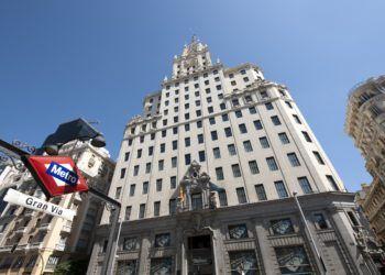 Edificio de Telefónica, en Madrid. Foto: cheapinmadrid.es.