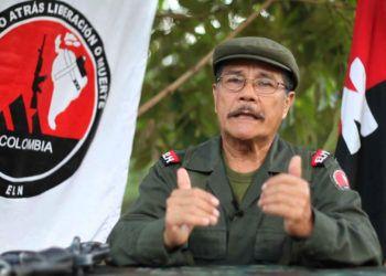 """Nicolás Rodríguez Bautista, alias """"Gabino"""", líder de la guerrilla del ELN de Colombia. Foto: fmlaser1035.com / Archivo."""