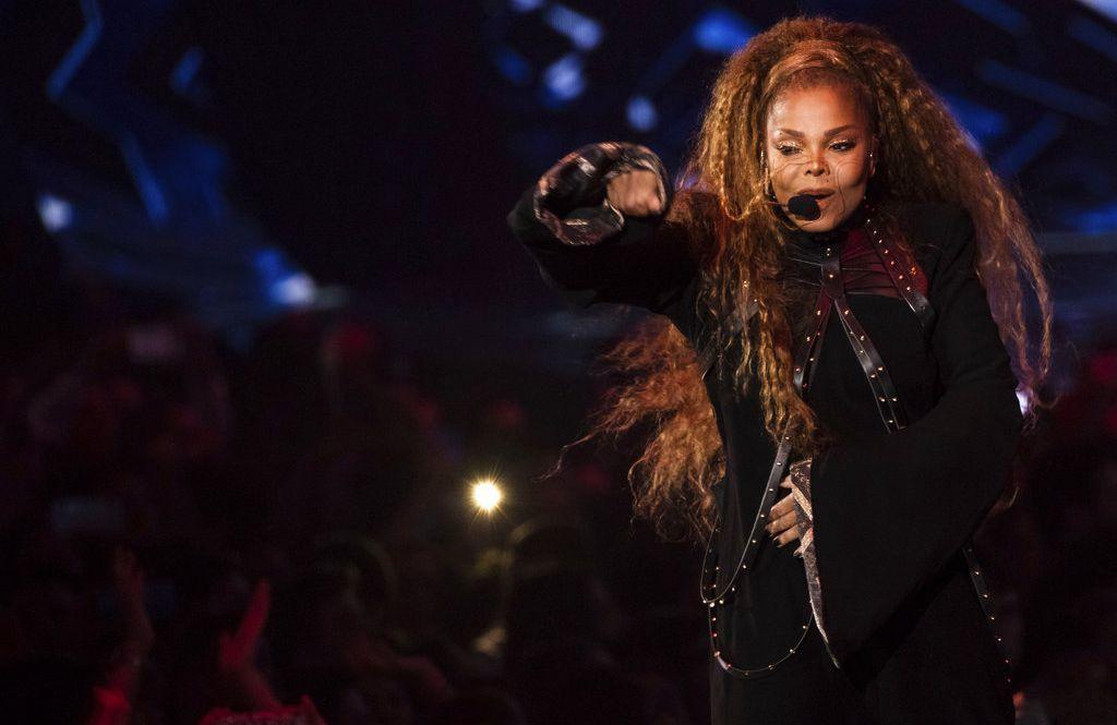 Janet Jackson actúa en la ceremonia de los premios MTV EMA en Bilbao, España, el domingo 4 de noviembre del 2018. Foto: Vianney Le Caer / Invision / AP.