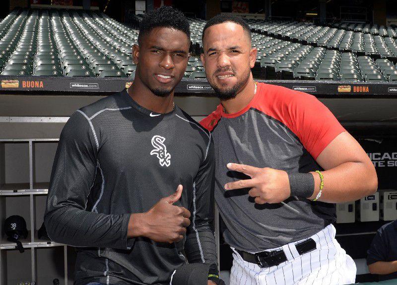Luis Robert junto a José Abreu, uno de sus mentores en las Medias Blancas. Foto: Tomada de Inside the White Sox