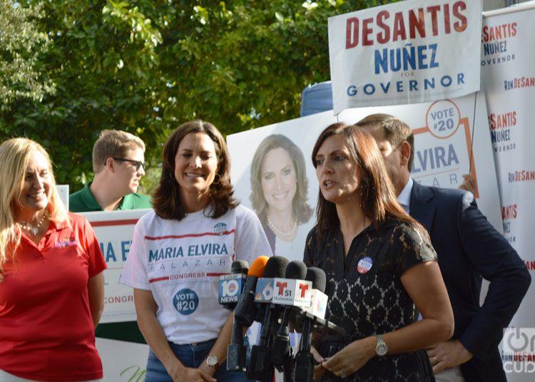 Jeanette Nuñez durante un acto de campaña en Miami. Foto: Marita Pérez Díaz.