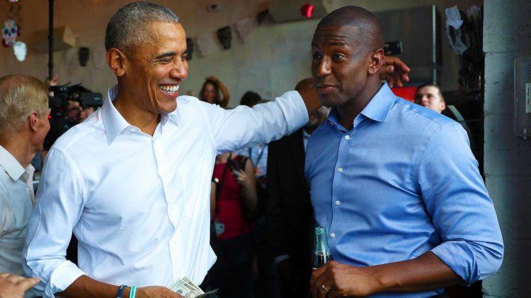 Obama y el candidato a gobernador demócrata de la Florida, Andrew Gillum. Foto: Joe Raedle/Getty Images.
