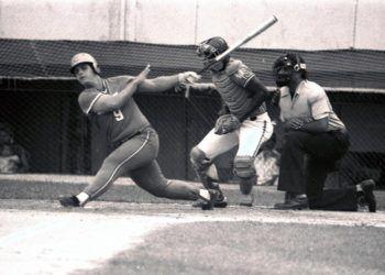 El ya fallecido Romelio Martínez, uno de los bateadores más poderosos en la historia del béisbol cubano. Foto: recorte de prensa / archivo de Oreidis Pimentel.