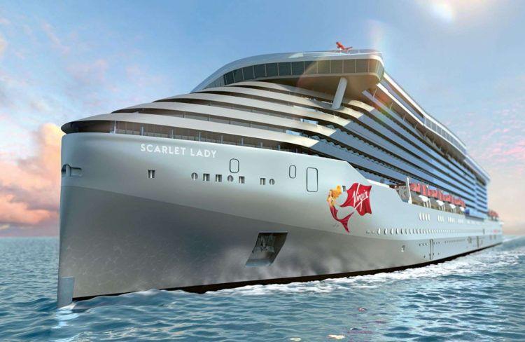 El Scarlet Lady, de Virgin Voyages, llegará a La Habana en 2020. Foto: Virgin Voyages.