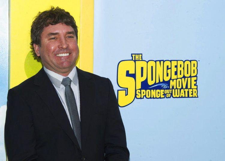 """El creador del personaje Bob Esponja, Stephen Hillenburg, durante el estreno mundial de la cinta animada """"The SpongeBob Movie: Sponge Out de Water"""" en Nueva York. Foto: Charles Sykes/Invision/AP."""