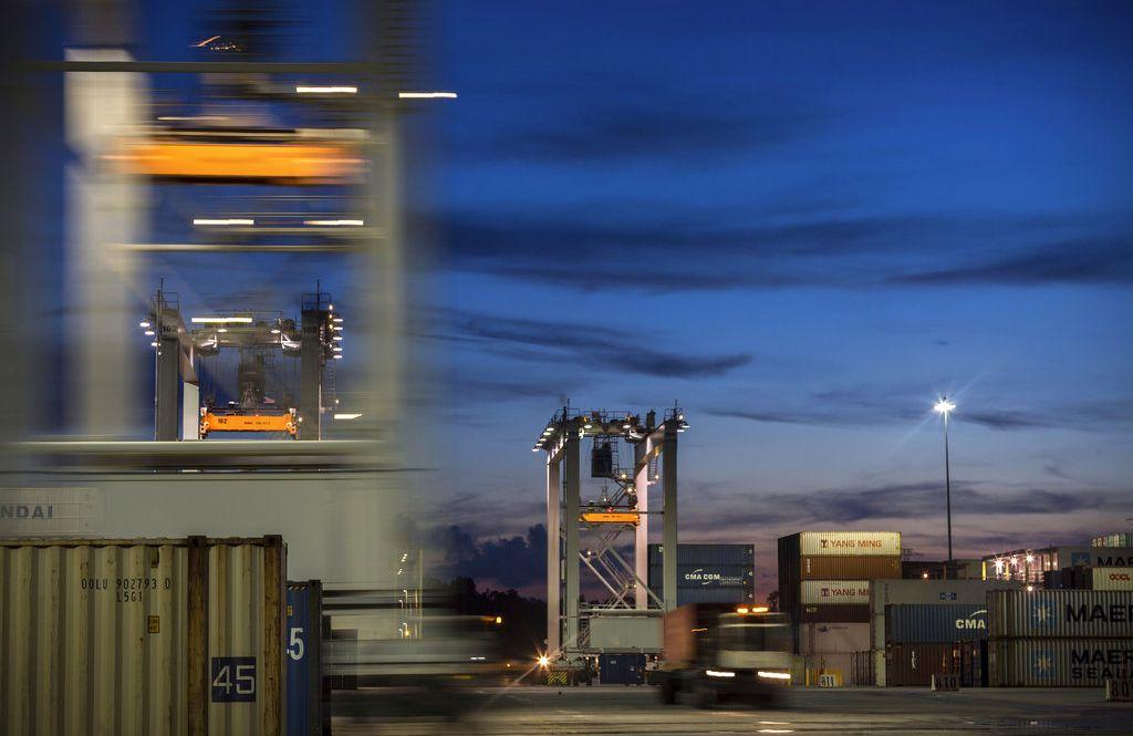 Actividad de carga en el puerto de Savannah en Georgia el 5 de julio del 2018. Foto: Stephen B. Morton / AP / Archivo.