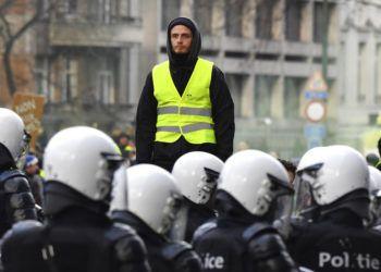 Una escena de las protestas en Bruselas el 8 de diciembre del 2018. Foto: Geert Vanden Wijngaert / AP.