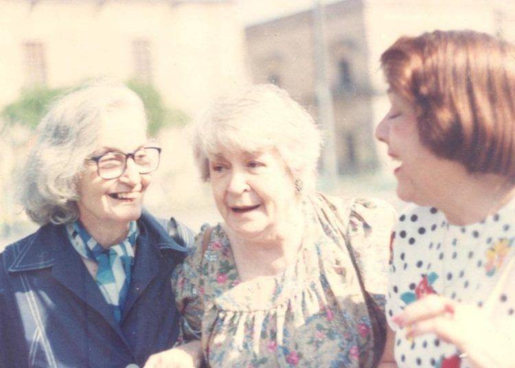 Fina, Bella y Gloria en 1993. Foto: Josefina de Diego.