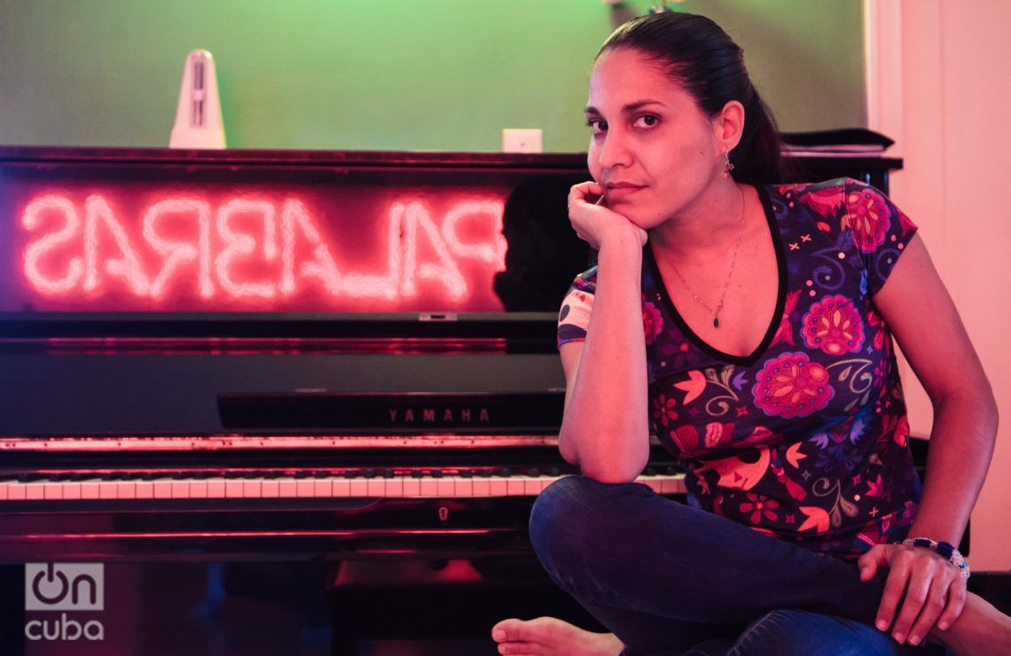 Haydée Milanés escogió un repertorio con temas clásicos latinoamericanos para inaugurar el 40 Festival Internacional de Cine Latinoamericano. Foto: Claudio Pelaez Sordo.