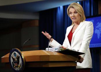 Heather Nauert, quien hasta ahora era portavoz del Departamento de Estado, será la embajadora de EE.UU. ante la ONU. Foto: Alex Brandon / AP / Archivo.