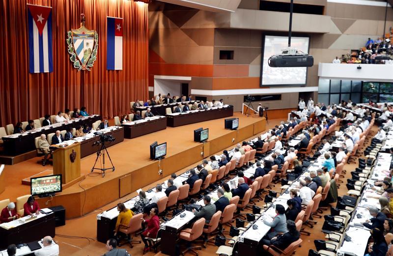Vista general de la sesión plenaria del II período ordinario de la IX Legislatura del Parlamento cubano hoy, viernes 21 de diciembre de 2018, en La Habana. Foto: Ernesto Mastrascusa / EFE.