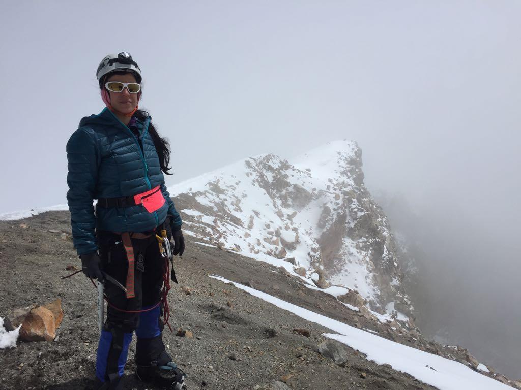 Junio 2018, Pico de Orizaba, 5,800 metros sobre el nivel del mar. Cumbre más alta de México.
