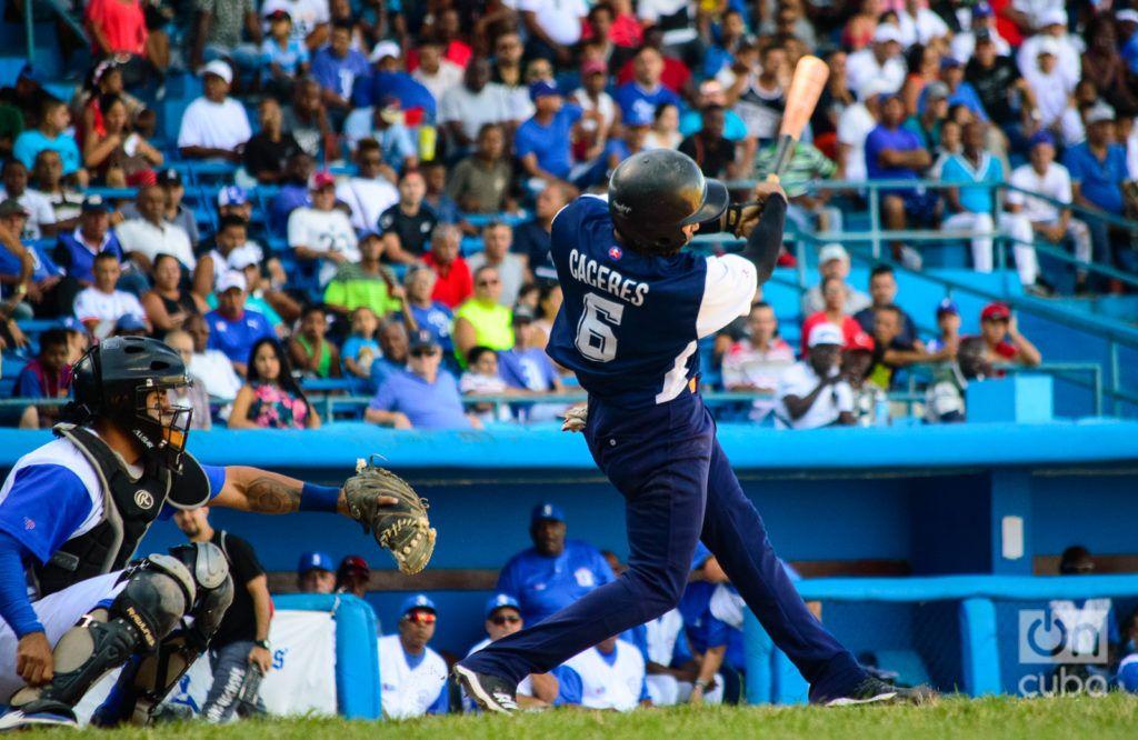 Cáceres ha bateado lo que ha querido en los últimos meses, tanto en Cuba como en Nicaragua, por lo que puede ser un activo de mucho valor para las selecciones nacionales en el futuro inmediato. Foto: Otmaro Rodríguez
