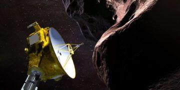 Simulación computarizada de la sonda New Horizons de la NASA en su viaje más allá de Plutón. Foto: @NASA / Twitter.