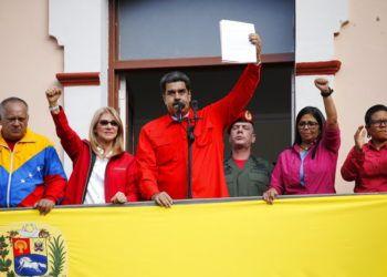 El presidente venezolano Nicolás Maduro al anunciar que rompe relaciones diplomáticas con Estados Unidos. Foto: Ariana Cubillos / AP.