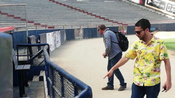 Inspectores de MLB evaluaron las condiciones actuales del parque Rod Carew, en Panamá, donde se jugará la 61 Serie del Caribe. Foto: EFE
