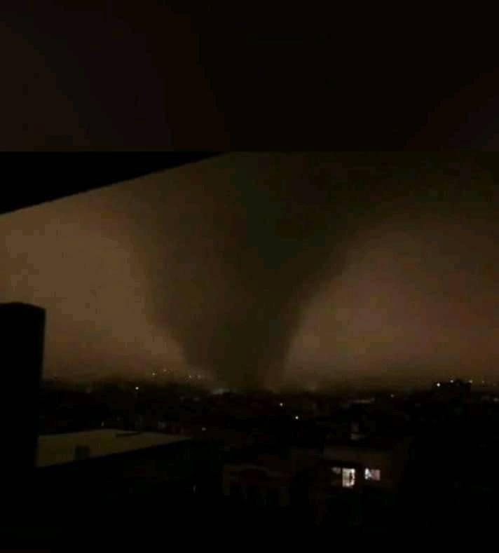 Tornado en La Habana. Foto: Cesyl Pérez.