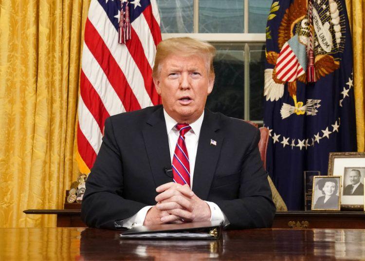 El presidente Donald Trump da un discurso en la Oficina Oval de la Casa Blanca, el martes 8 de enero de 2019, en Washington. Foto: Carlos Barria / Pool vía AP.