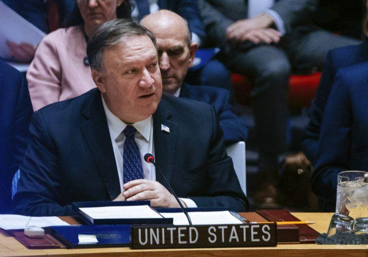 El secretario de Estado de Estados Unidos Mike Pompeo habla ante el Consejo de Seguridad de la ONU el sábado 26 de enero de 2019 en la sede de Naciones Unidas. Foto: Kevin Hagen / AP.