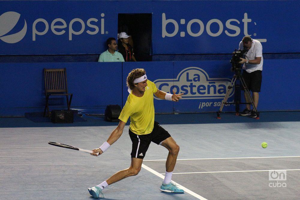 El alemán Alexander Zverev en el torneo ATP 500 de Acapulco. Foto: Jesús Adonis Martínez.