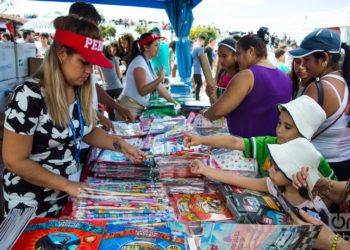 Feria Internacional del Libro de La Habana 2019, en la fortaleza de San Carlos de La Cabaña. Foto: Otmaro Rodríguez / Archivo.
