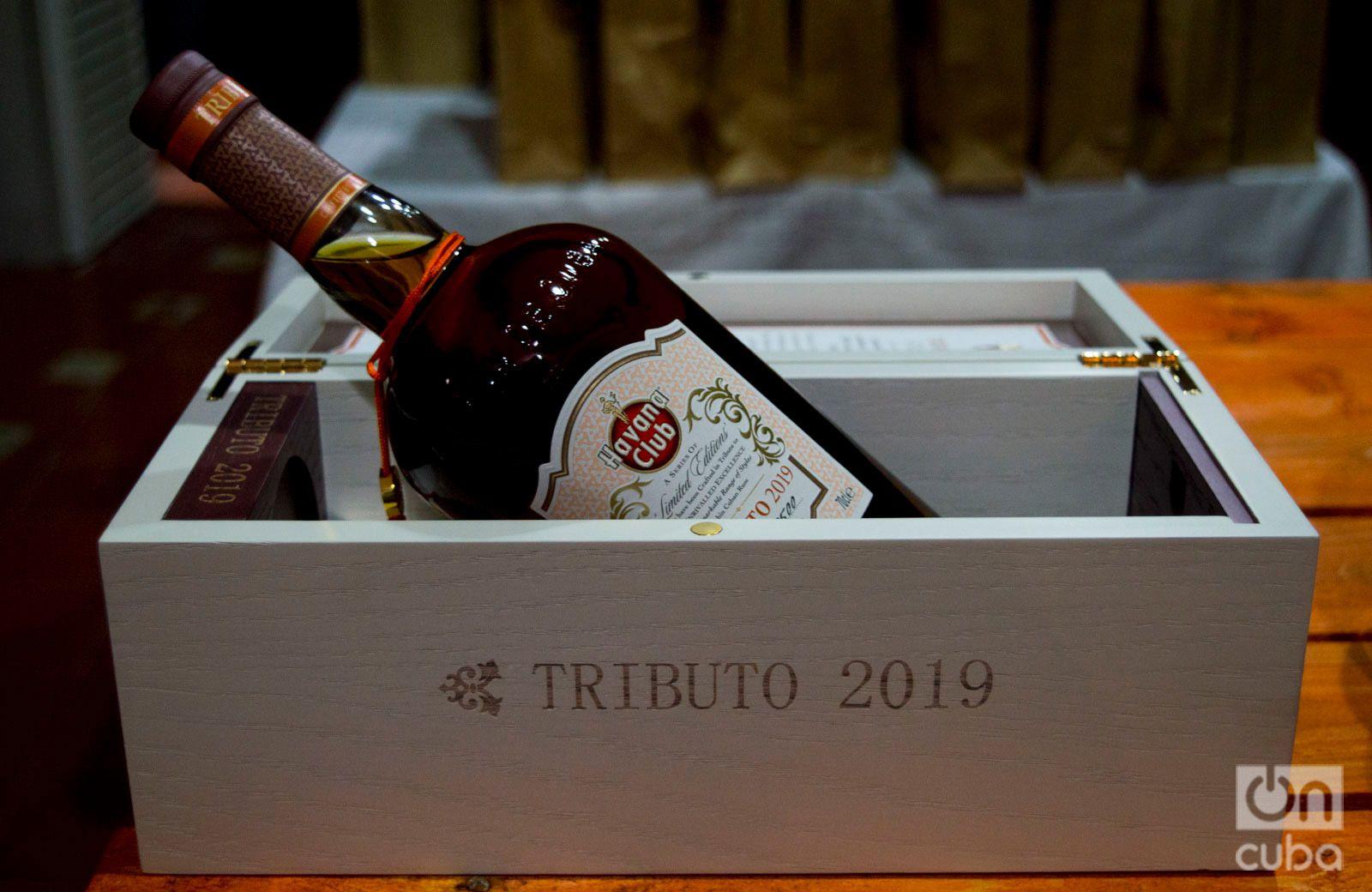 Ron Tributo 2019, de la colección icónica de Havana Club. Foto: Otmaro Rodríguez.