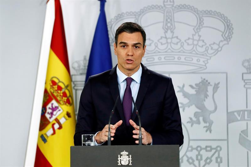 """Pedro Sánchez ha asegurado que el reconocimiento a Guaidó tiene un """"horizonte claro"""" y es convocar unas elecciones """"en el mejor plazo posible"""". Foto: EFE."""