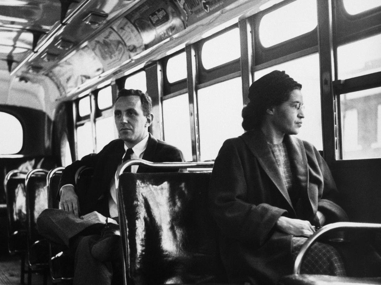 La histórica escena del autobús.