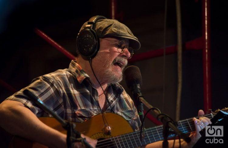 Silvio Rodríguez en un concierto en el poblado habanero de Regla el dia 22 de febrero de 2019. Foto: Otmaro Rodríguez / Archivo.