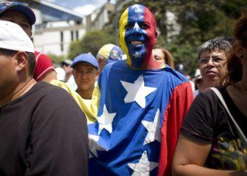 Manifestación opositora al presidente de Venezuela Nicolás Maduro en Caracas. Foto: Ariana Cubillos / AP / Archivo.