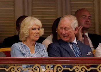 El príncipe Carlos y su esposa Camila, duquesa de Cornualles, asisten a evento en Gran Teatro de La Habana Alicia Alonso. Foto: Alexander Meneghini / Pool / EFE.