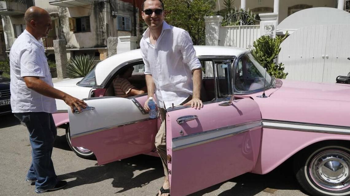 El cofundador de la plataforma digital Airbnb, Nathan Blecharczyk, en La Habana, en junio del 2015. Foto: Desmond Boylan/ AP
