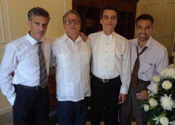 """Parte del elenco de """"Red Avispa"""". Foto: René de la Cruz en Facebook."""