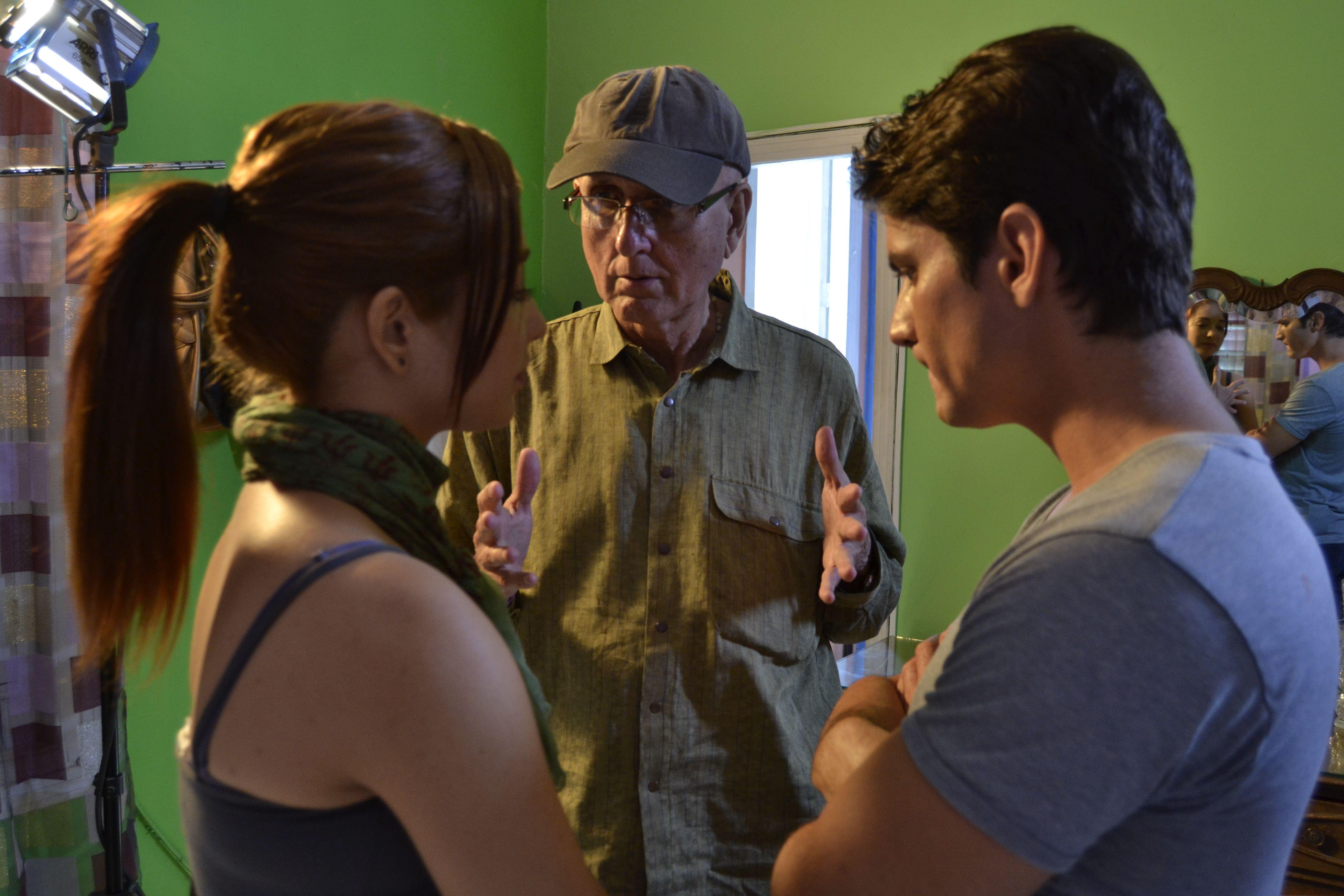 """Durante la filmación de """"La Ciudad""""."""