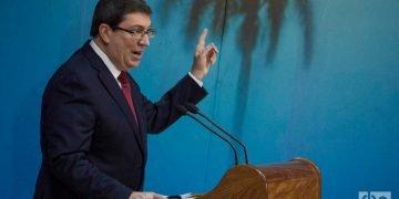 El ministro de Relaciones Exteriores de Cuba, Bruno Rodríguez Parrilla, ofrece conferencia de prensa en La Habana. Foto: Otmaro Rodríguez / Archivo.