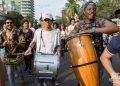 Apertura artística del corredor cultural de la Calle Línea, el sábado 27 de abril de 2019 durante la XIII Bienal de La Habana. Foto: Otmaro Rodríguez.