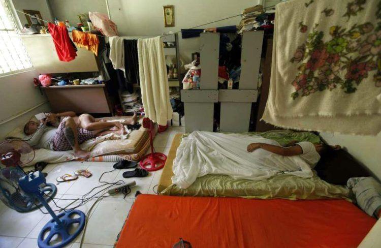 Migrantes cubanos en Panamá. Foto: EFE.