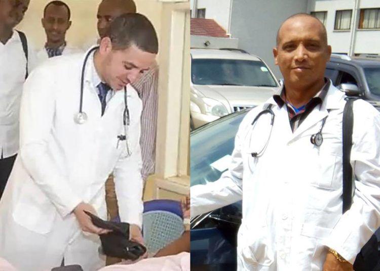 Los doctores Landy Rodríguez (izq.) y Assel Herrera fueron secuestrados en la mañana de ayer presuntamente por el grupo extremista Al Shabab.
