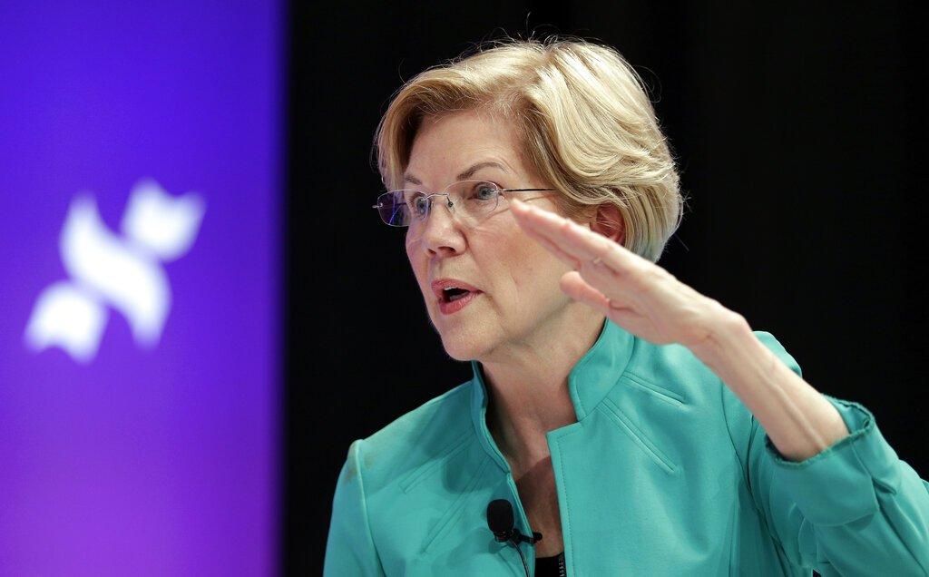 La aspirante demócrata Elizabeth Warren en un evento en la Universidad Estatal de Texas en Houston el 24 de abril del 2019. Foto: Michael Wyke / AP.