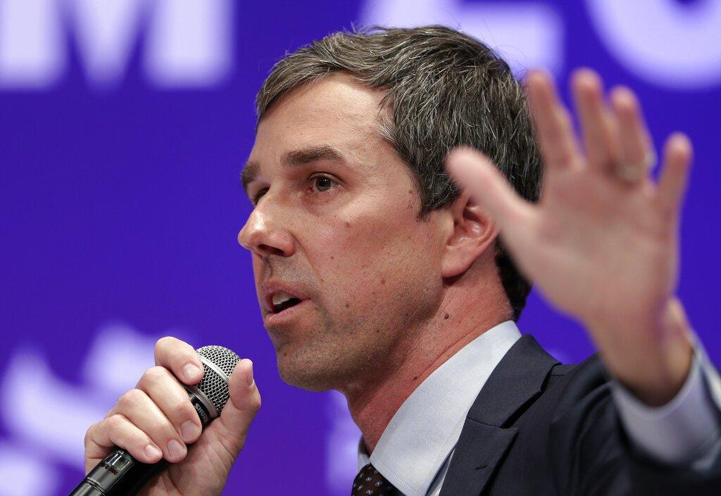 El aspirante demócrata Beto O'Rourke en un evento en la Universidad Estatal de Texas en Houston el 24 de abril del 2019. Foto: Michael Wyke / AP.