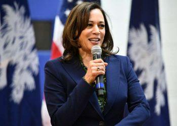 La  senadora Kamala Harris. Foto: Meg Kinnard, AP.