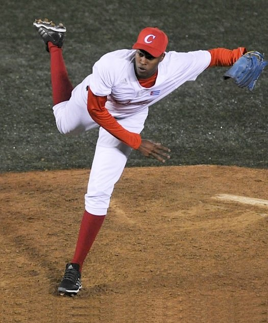 Raidel Martínez en la Serie del Caribe de Jalisco 2018. Foto: Getty Images