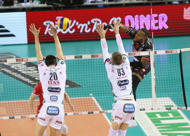 Yoandy Leal fue el MVP del segundo duelo semifinal entre el Civitanova y el Trentino. Foto: Lega Volley
