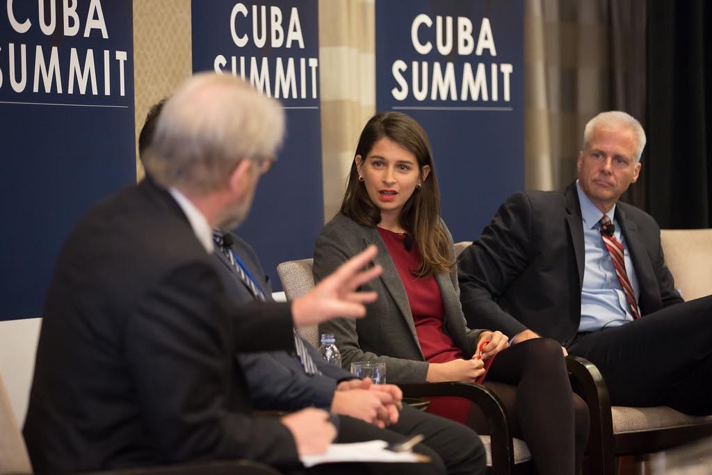 Marta Deus participa en Cuba Summit organizado por The Economist en Washington, en diciembre de 2015.