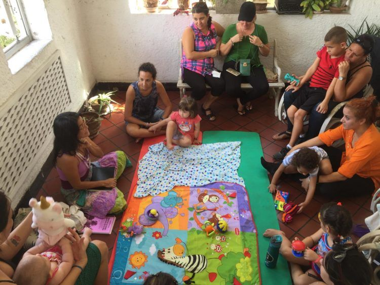"""El domingo último durante """"una especie de taller exploratorio"""", invitados por Marta."""