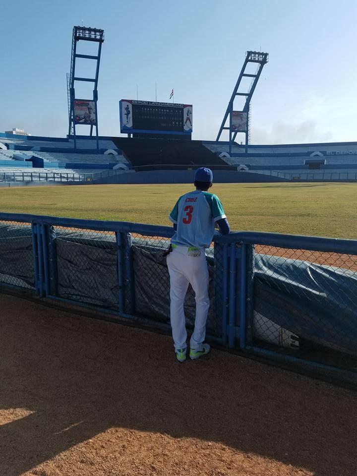 Narbe Yadán Cruz en el estadio Latinoamericano. Foto: Tomada de su perfil de Facebook